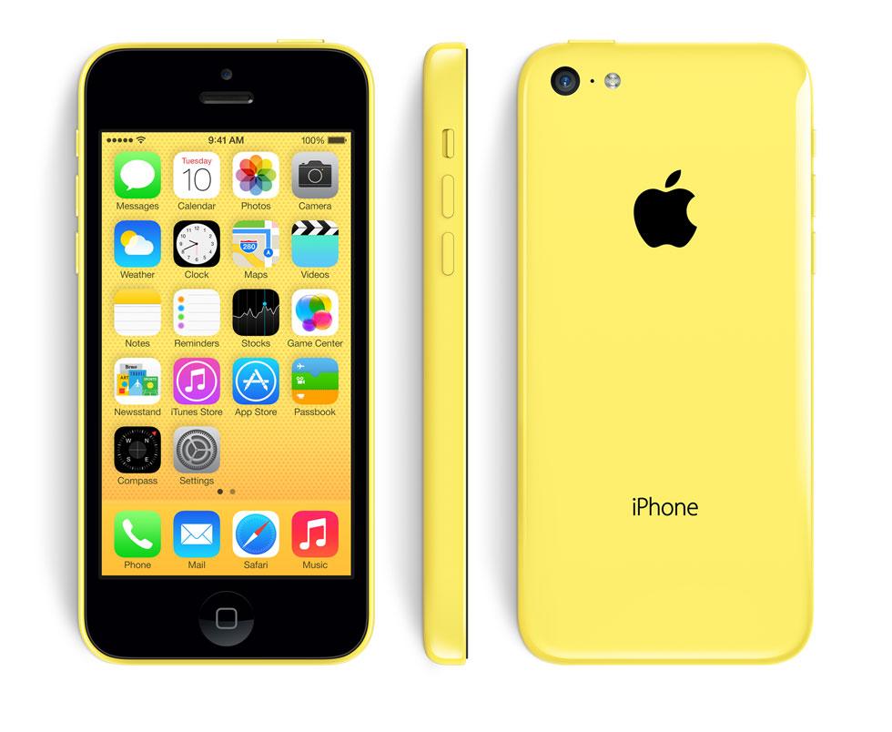фото iphone 5c желтый